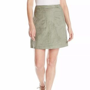 Two by Vince Camuto Pastel Faux Suede Skirt